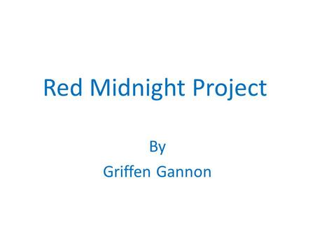 Red Midnight Project By Griffen Gannon. Guatemala.