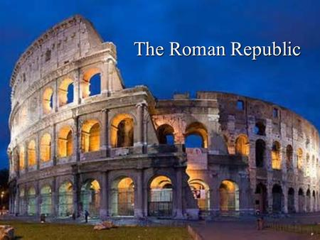 The Roman Republic. I.Geography A. Protected by mountains, but separated from rest of Europe 1.Alps a.Kept out European invaders 2.Apennine Mountains.