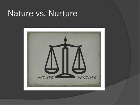 Nature vs. Nurture. Genetics  All creatures have a unique genetic code, or biological blueprint That blueprint is found inside every cell in the body.