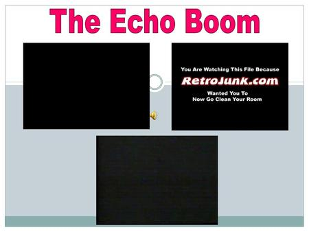 The Echo Boom – is the demographic phase in which a population increase is created as people born during the post-World War II baby boom have their own.