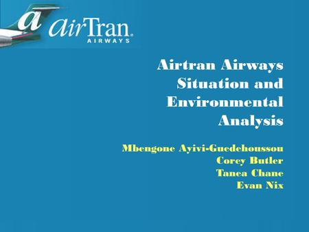 situation analysis of airlines industry The us airline industry operates the safest form of intercity transportation, thanks to the ongoing and strong collaboration between the airlines.