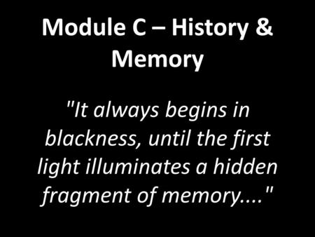 the 50th gate history and memory essays Module c – history & memory the gates imaginative recreation question in the essay representation – history/memory interplay.