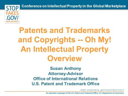 Office of International Relations U.S. Patent and Trademark Office