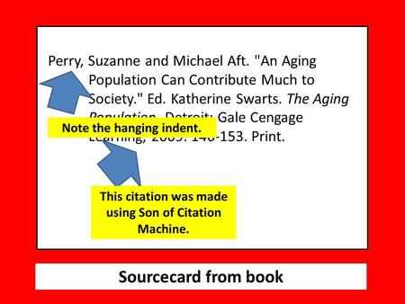 Sourcecard from book Perry, Suzanne and Michael Aft. An Aging Population Can Contribute Much to Society. Ed. Katherine Swarts. The Aging Population.