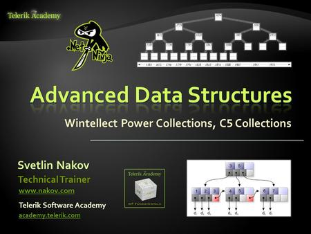 Svetlin Nakov Telerik Software Academy academy.telerik.com Technical Trainer www.nakov.com Wintellect Power Collections, C 5 Collections.