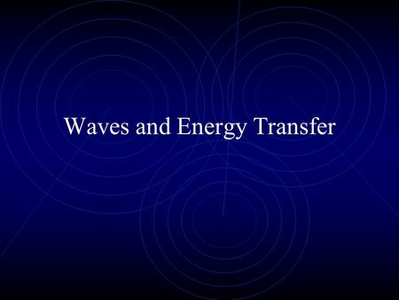 Waves and Energy Transfer. Wave Properties Types of waves Mechanical waves: water waves, sound waves, rope waves(require a medium) Transverse waves: particles.
