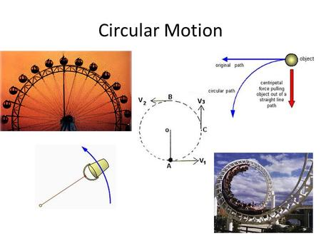 Circular Motion. Circular Motion: Description & Causes Circular motion is motion along a circular path due to the influence of a centripetal force. [Note: