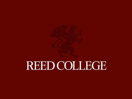 REED ADMISSION Welcome to Junior Visit Day HEAD NUMBERED LIST 1.Number one. 2.Number two. NUMBERED LIST 1.Number one. 2.Number two. 3.Number three.