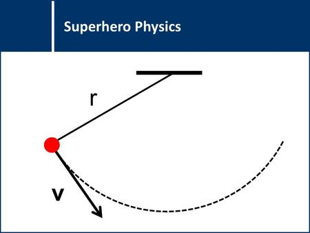 Question Title Superhero Physics v r. Question Title A superhero is designing a new rope-like gadget that will allow him to swing from building to building.