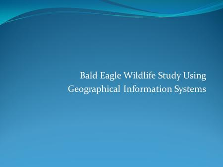 Bald Eagle Wildlife Study Using Geographical Information Systems.