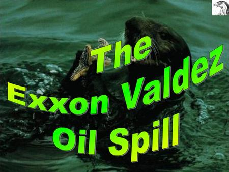 The Exxon Valdez oil Spill We will look at:  The background history of the Exxon Valdez Oil Spill  The effects of the spill- particularly to the Sea.