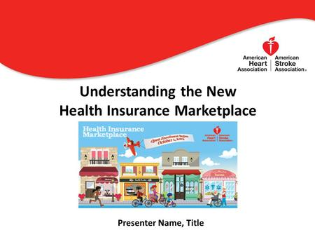 Understanding the New Health Insurance Marketplace 0 Presenter Name, Title.