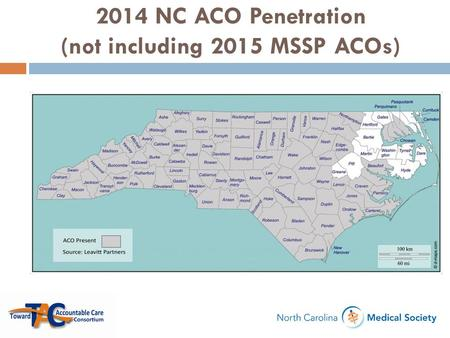 2014 NC ACO Penetration (not including 2015 MSSP ACOs)