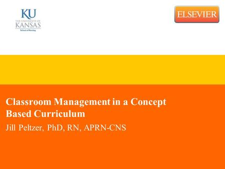 Classroom Management in a Concept Based Curriculum Jill Peltzer, PhD, RN, APRN-CNS.