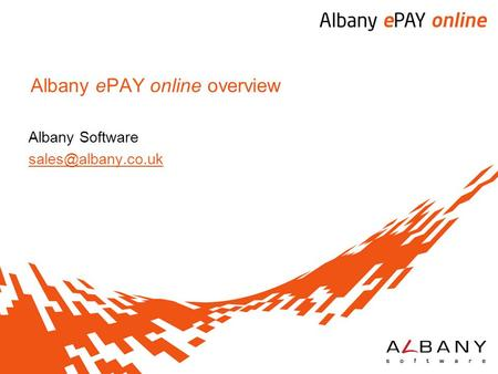 Albany ePAY online overview