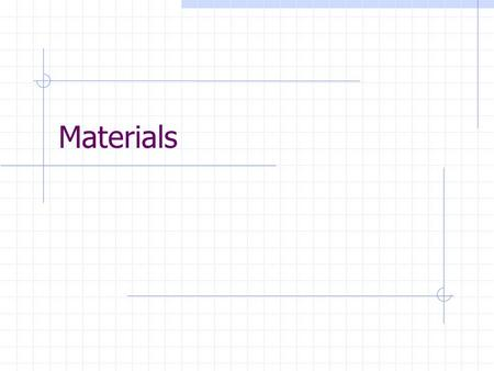 Materials. Introduction Inventory in a company includes stock of raw materials, work-in-progress, finished & semi-finished products, spare components.