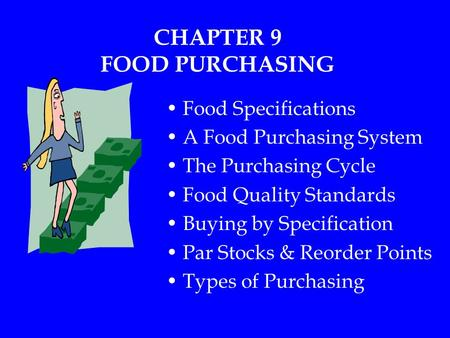 CHAPTER 9 FOOD PURCHASING