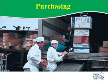 Purchasing. Section Objectives Upon completing this section, you should be able to: Explain the process of purchasing.