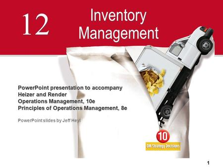 12 Inventory Management PowerPoint presentation to accompany