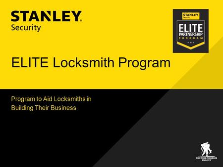 ELITE Locksmith Program Program to Aid Locksmiths in Building Their Business.