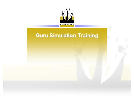 Guru Simulation Training. Agenda 1.Introduction 2.Data Model 1 st Pass: Basic Structure 3.Data Model 2 nd Pass: Policy Detail 4.Data Model 3 rd Pass: