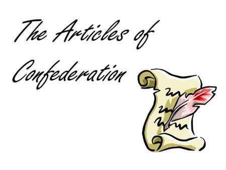articles involving confederation reading