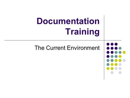 Documentation Training The Current Environment. Why Us and Why Now ? Medicaid has become a primary funding source for behavioral health care agencies.