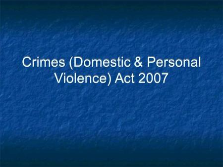 family violence protection act 2008 pdf