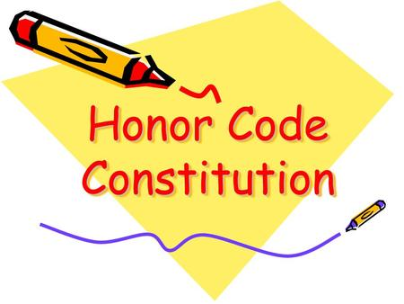 Honor Code Constitution. I will neither give nor receive unauthorized aid on any test, quiz, research paper, lab or any other student-generated work as.