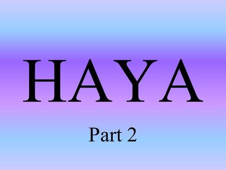 "HAYA Part 2. The Prophet (pbuh) said: ""Every religion has an innate character. The character of Islam is Haya"" (Abu Dawud)"
