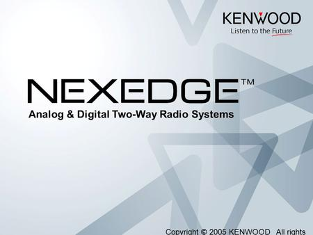 Analog & Digital Two-Way Radio Systems
