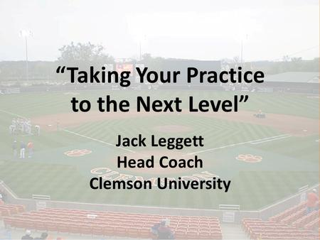 """Taking Your Practice to the Next Level"""