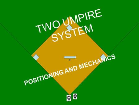 TWO UMPIRE SYSTEM POSITIONING AND MECHANICS. WHY CLASSROOM? When building a house, office building, bridge, etc., you first have to have a plan, written.