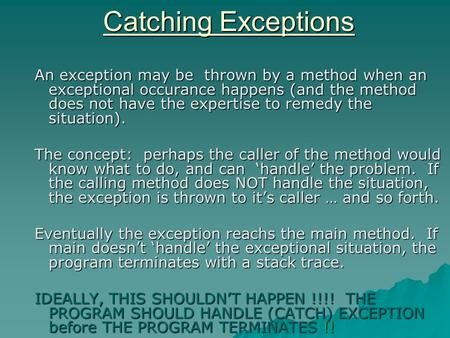 how to call a method that throws exception in java
