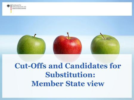 Cut-Offs and Candidates for Substitution: