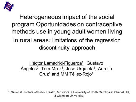 Heterogeneous impact of the social program Oportunidades on contraceptive methods use in young adult women living in rural areas: limitations of the regression.