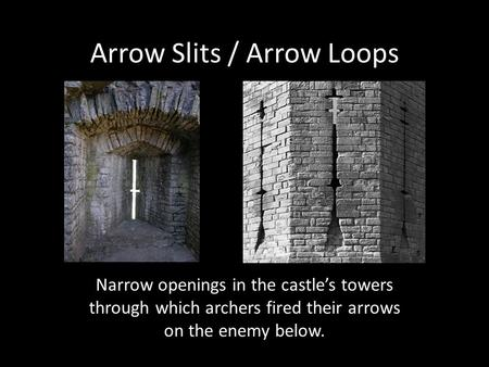 Arrow Slits / Arrow Loops