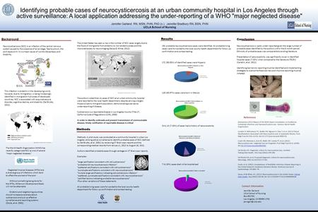 Identifying probable cases of neurocysticercosis at an urban community hospital in Los Angeles through active surveillance: A local application addressing.