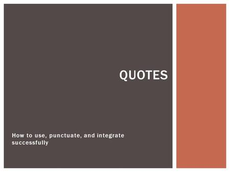 Quotes in a literary essay