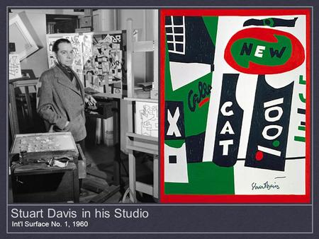 Stuart Davis in his Studio