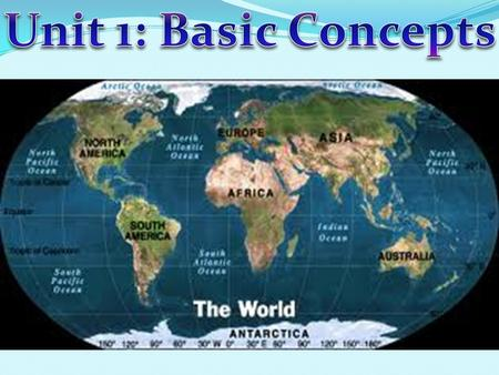 Unit 1: Basic Concepts.