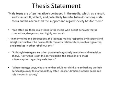 teenagers and the media essay