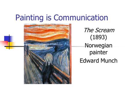 Painting is Communication