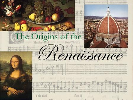 The Origins of the Renaissance. Caused by  A new interest in Classical art  The growth of Trade and Commerce  The influence of Italian City-States.