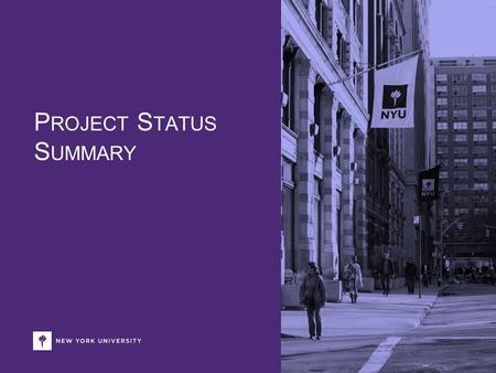 P ROJECT S TATUS S UMMARY. Insert Date Presentation Title Goes Here Sample Project Status/Schedule Summaries In addition to managing a project plan in.