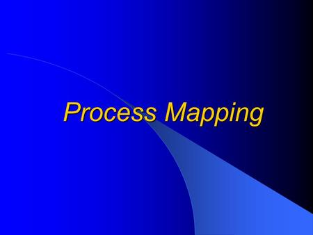 Process Mapping. Why Flow Chart? To understand a process or system To (visually) depict all key steps in a process or system To compare existing and 'ideal'