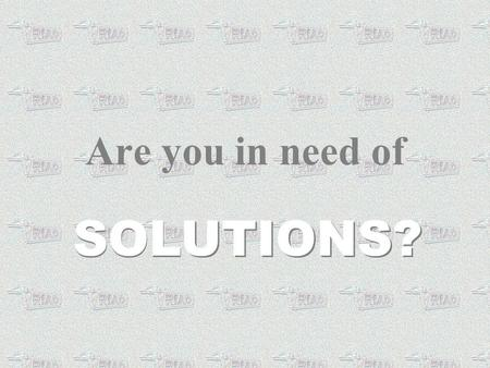 Are you in need of SOLUTIONS?. TRIAD773.COM Can help you put it all TOGETHER! TRIAD773.COM Can help you put it all TOGETHER!