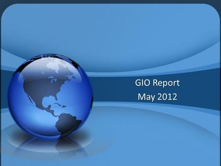 GIO Report May 2012. Base Products 1' Pixel Resolution – 4-Band Imagery USGS-compliant, 1.5 meter post spacing LiDAR Digital Elevation Model Available.