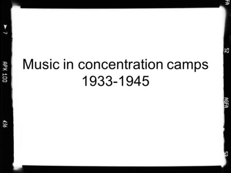Music in concentration camps 1933-1945. Music was an integral part of camp life in the Nazi-run camps.