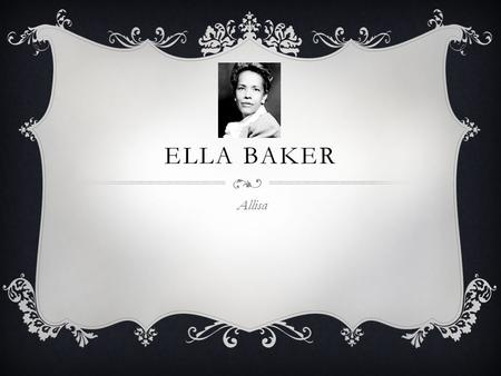 ella baker essay Baker's falls is a famous waterfall in sri lanka it is situated in horton plains  national park on a tributary of the belihul oya the height of the baker's  waterfalls is.